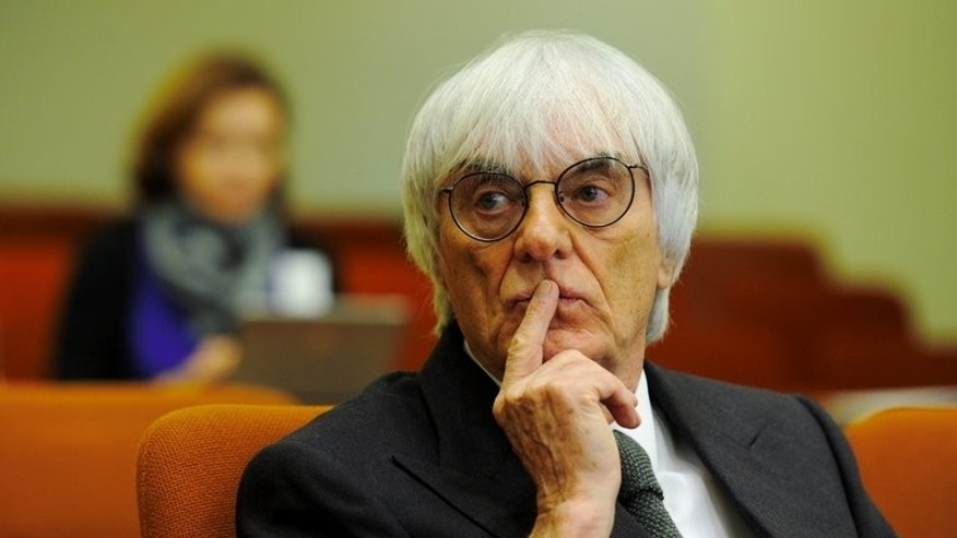Bernie Ecclestone, seen in court in Munich, Germany, November 10, 2011. the Formula One boss has been charged with bribery by German prosecutors.