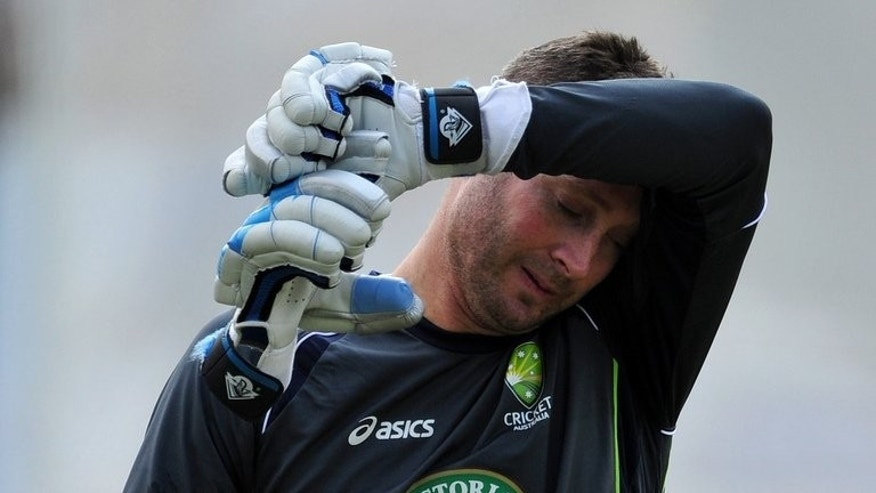 Australia's Michael Clarke during a training session at Lord's on July 17, 2013. Skipper Clarke insisted his focus was on the future after sacked coach Mickey Arthur said he was taking legal action against Cricket Australia.