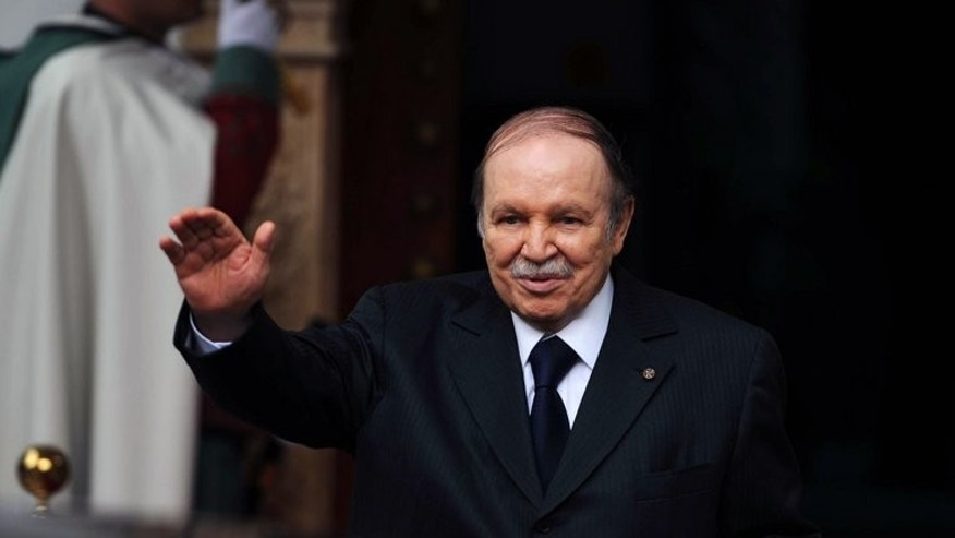 "Abdelaziz Bouteflika greets a visitor in Algiers on January 14. His office said on Thursday that Bouteflika ""will continue to rest and undergo therapy"", but did not say for how long."
