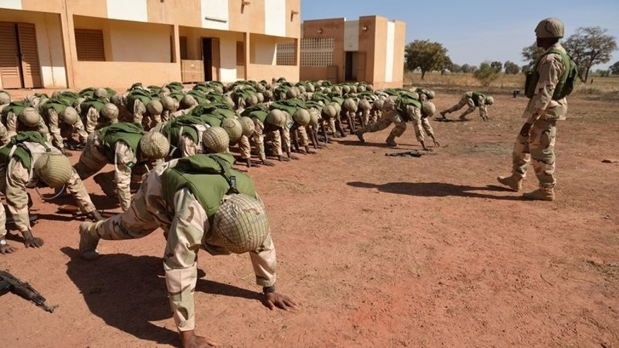 Nigerian soldiers train at an airbase in Mali capital Bamako in January. Nigeria plans to withdraw some of its troops from Mali because they are needed back home, where the country is battling a deadly Islamist insurgency, officials said Thursday.
