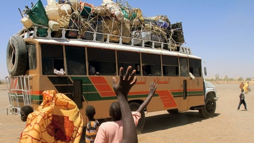 A bus leaves Khartoum in March for Malakal in South Sudan's Upper Nile state. A speeding bus killed 22 people in eastern Sudan when it collided with a smaller vehicle, official media reported on Thursday.