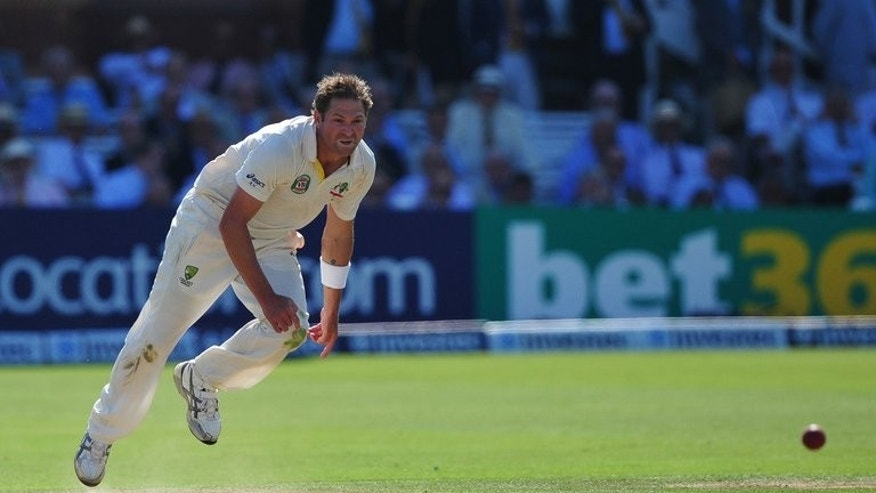 Ryan Harris delivers a ball for Australia against England at Lord's on Thursday. The Australian pace bowler tormented England on the first day of the second Test and then revealed he could have been an Ashes hero for the hosts.