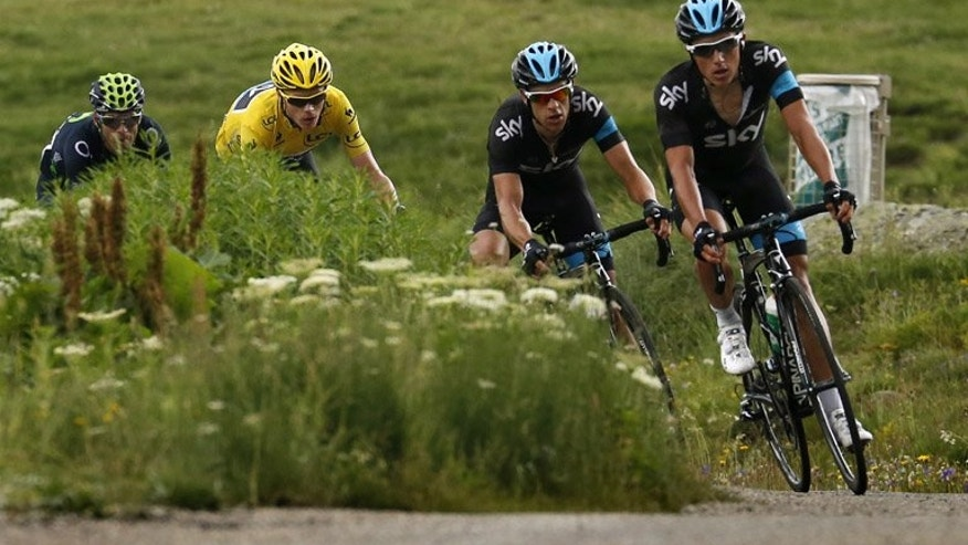 Chris Froome (in yellow jersey) ascends the Alpe d'Huez during the Tour de France 19th stage on Thursday. The peloton may already be exhausted and eager for this year's Tour de France to finish, but after the agony of Thursday's double ascent of L'Alpe d'Huez, things are not about to get any easier for leader Froome on Friday's 19th stage.