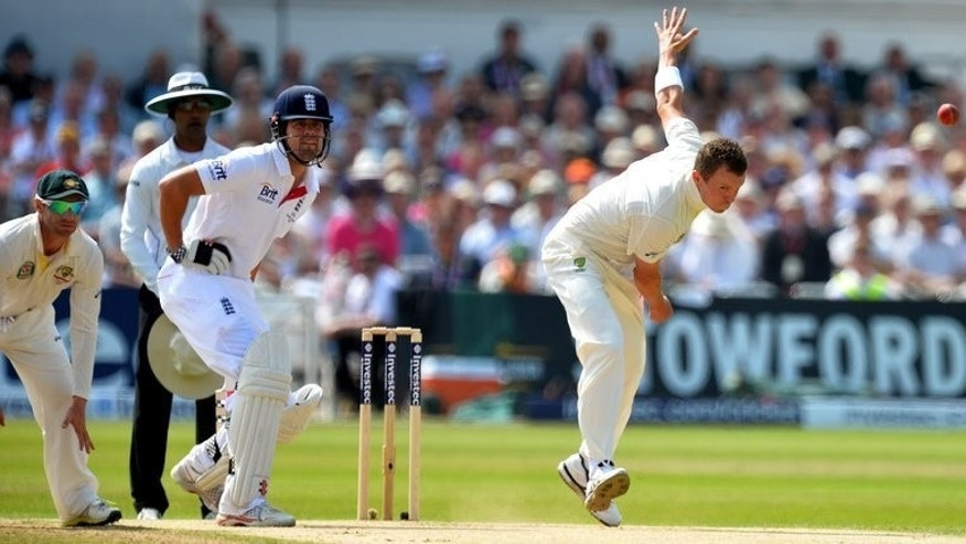 "Peter Siddle bowls for Australia against England at Trent Bridge on July 12. Ryan Harris said fellow seamer Peter Siddle's ""unacceptable"" no-ball that saw England's Jonny Bairstow reprieved at Lord's could have cost Australia the Ashes."