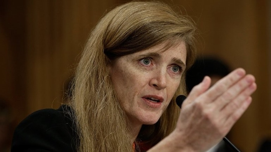 "Samantha Power, the nominee to be the US representative to the United Nations, testifies before the Senate Foreign Relations Committee on July 17, 2013. Venezuela said it has ""ended"" its rapprochement with the United States due to a statement by Power."