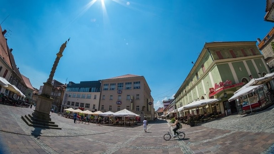A square in the city of Maribor, Slovenia, is pictured on June 17, 2013. Under the city's calm exterior, the pressure is on for its new mayor -- and the country's new prime minister -- to revive a hard-hit economy and end a culture of corruption that brought thousands into Slovenia's streets over the winter.