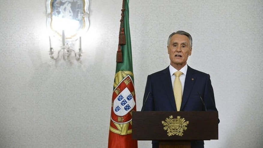 Portuguese President Anibal Cavaco Silva addresses the nation from Belem Presidential palace in Lisbon on July 21, 2013. Cavaco Silva said Sunday he backed the country's centre-right coalition government and rejected calls for snap elections to resolve a political crisis shaking the bailed-out nation.