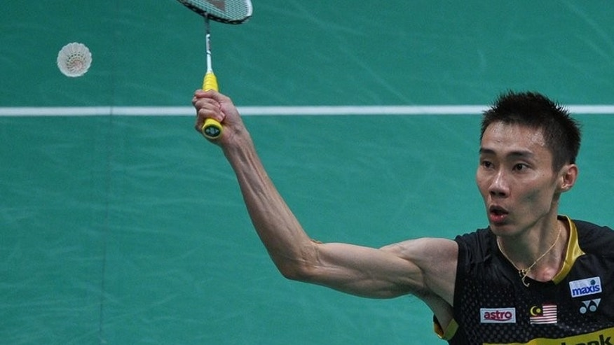 Lee Chong Wei of Malaysia, pictured during the Sudirman Cup world mixed team badminton championships in Kuala Lumpur, on May 21, 2013. Indian Badminton League is due to be held from August 14-31 and features six city-based franchises sold to businesses and individuals. Lee is among the players to be sold at an IPL auction in New Delhi on Monday, July 22.