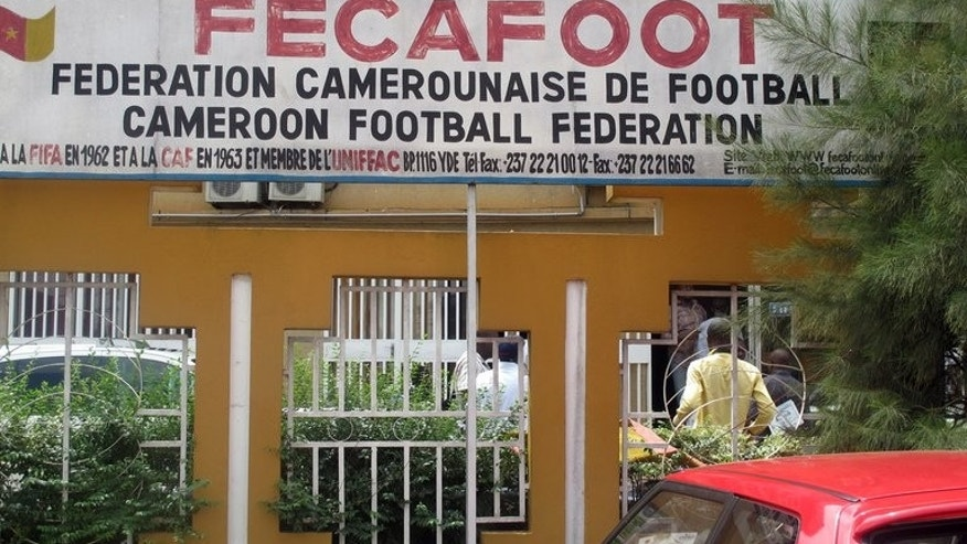Photo taken on June 27, 2013 shows the headquarters of the Federation Camerounaise de Football (Fecafoot), or Cameroonian Football Federation, in Yaounde. FIFA on Monday lifted its suspension of Cameroon's football association, saying the organisation had addressed its concerns over government interference.