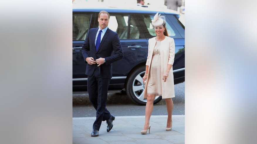 Prince William and his wife Catherine arrive at Westminster Abbey in London on June 4, 2013. A flood of last-minute bets on Britain's royal baby poured in on Monday even as Kate was in hospital in labour.