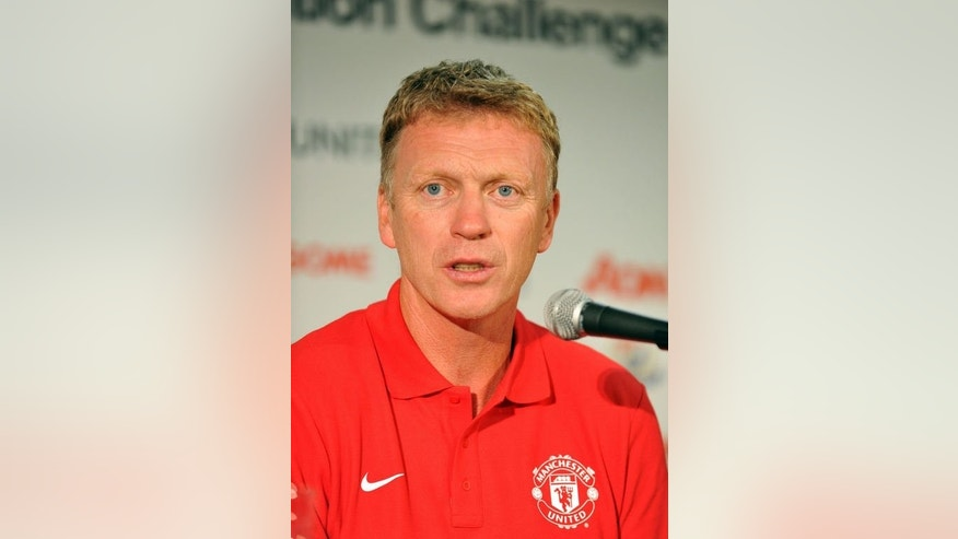Manchester United manager David Moyes speaks during a press conference prior to a training session at Nissan Stadium in Yokohama, suburban Tokyo on July 22, 2013.