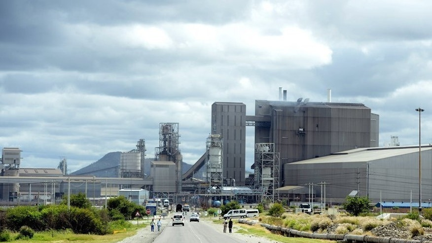 The Anglo American Platinum mine in Rustenburg, northwest of Johannesburg, pictured on January 16, 2013. The world's top platinum producer Anglo American Platinum on Monday reported a swing back to profit in the first half of 2013, boosted by the weaker rand and increased sales.