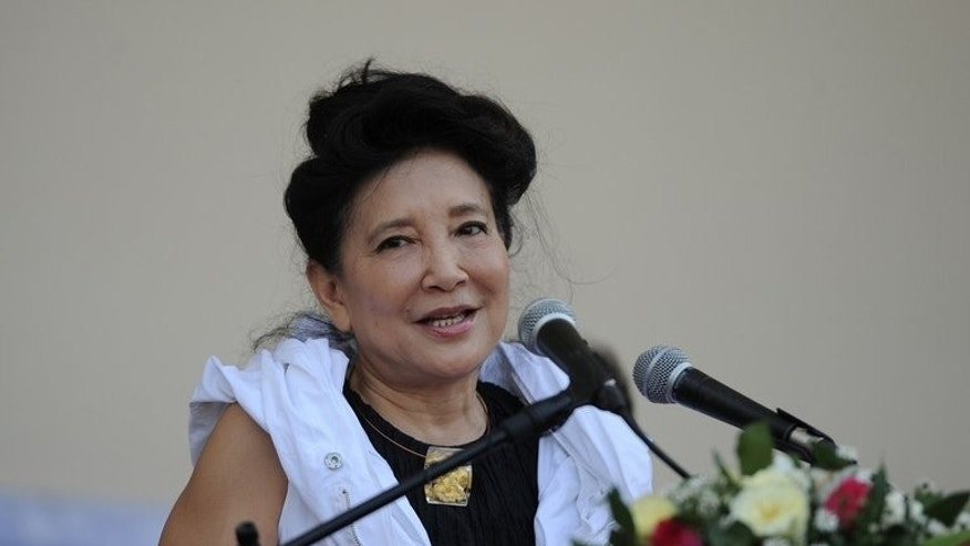 "Chinese author Jung Chang speaks during the opening ceremony of Myanmar's first international literary festival, in Yangon on February 1, 2013. It may be unclear what exactly Beijing means by its aspirational ""China Dream"" slogan, but for banned ""Wild Swans"" author Jung Chang it's a positive step. ""It's good to have a dream,"" she says. ""My dream is to have my books published in China."""