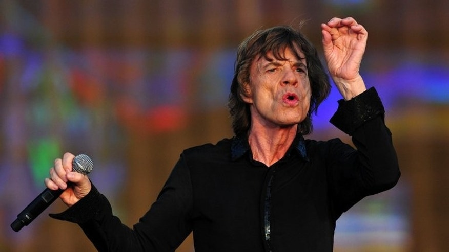 English singer Mick Jagger performs with the Rolling Stones during the British Summertime Hyde Park concert in central London, on July 13, 2013. Jagger will celebrate his 70th birthday Friday, his ecstatic reception last month at the Glastonbury Festival still ringing in the ears, as just one of a generation of wrinkly rockers determined not to go quietly.