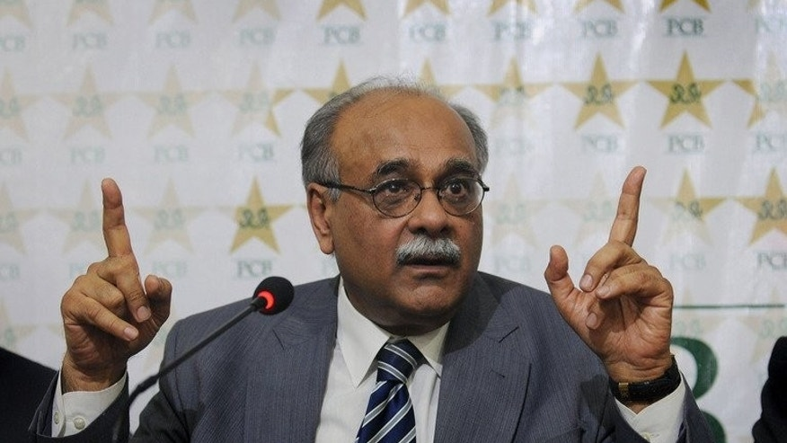 Najam Sethi, interim chairman of the Pakistan Cricket Board (PCB), addresses a press conference in Lahore on June 24, 2013. Pakistani cricket faces fresh turmoil after a court cancelled all decisions made by the interim board chairman and demanded a member of the public be included on the national selection committee.