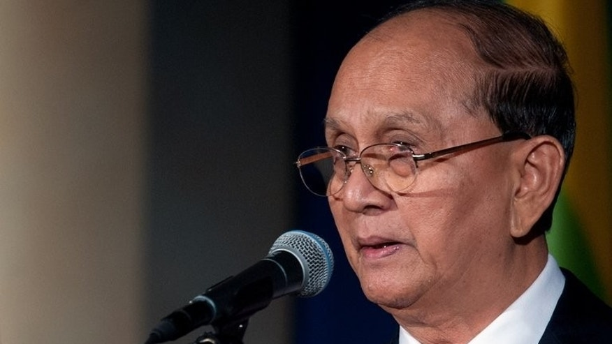 Myanmar President Thein Sein addresses the US Chamber of Commerce in Washington, on May 20, 2013. Myanmar has agreed to release some 70 political prisoners, after Thein Sein vowed to free all dissidents by the end of the year.