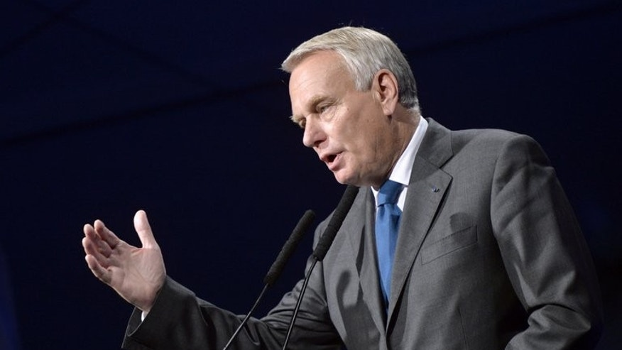 French Prime minister Jean-Marc Ayrault delivers a speech in Crolles on July 22, 2013. Ayrault arrived in Seoul Thursday as part of an Asian tour, a spokesman for the French Embassy in the city said.