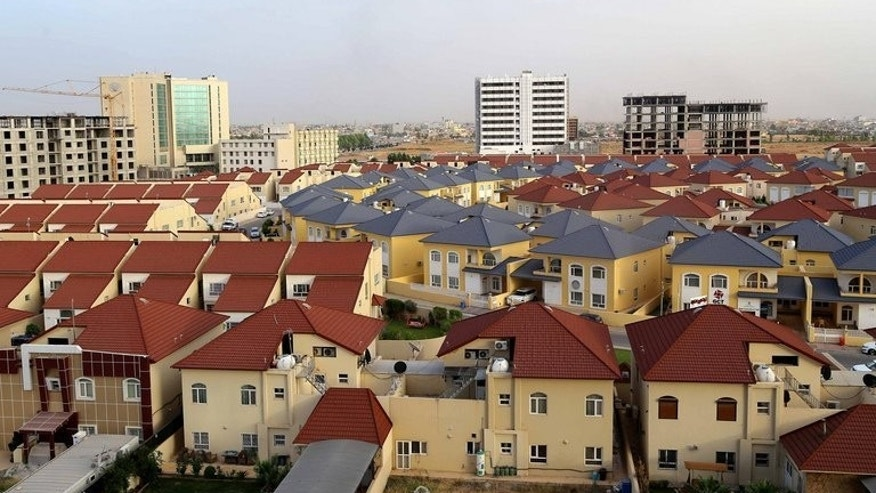 A general view shows newly built houses in the northern Iraqi Kurdish city of Arbil on June 3, 2013. Iraq's autonomous Kurdish region is preparing to host a conference that will bring together Kurdish parties from Iraq, Syria, Iran and Turkey.