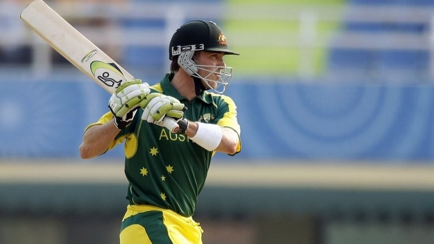Damien Martyn plays a stroke in a 2006Champions Trophy match against New Zealand in Mohali. The former Australia batsman has told the current team to pick themselves up in a bid to regain the Ashes.