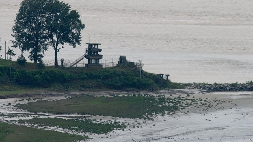 A North Korean lookout point on the edge of the Imjingang river, July 16, 2013. In 1968, an elite team of North Koran commandoes crossed into South Korea in an attempt to assassinate president Park Chung-Hee. It failed.