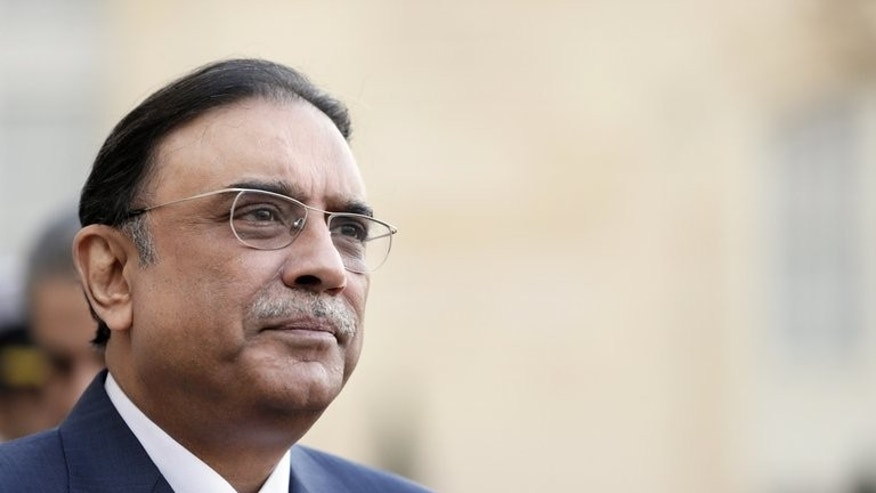 Pakistan's President Asif Ali Zardari holds a press conference after a meeting with his French counterpart at the Elysee Palace in Paris, on December 11, 2012. Pakistan's Supreme Court has revised the date for the presidential election, asking the election commission to hold it on July 30 instead of August 6.