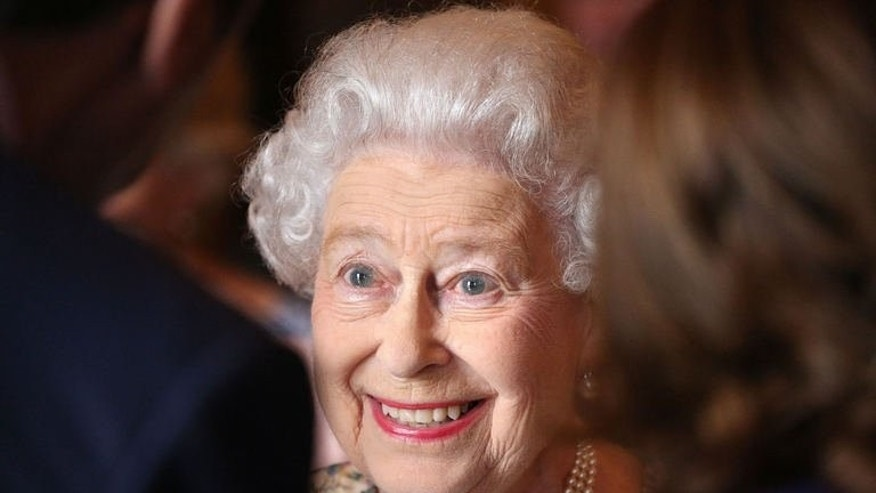 Britain's Queen Elizabeth II pictured at a reception for the Winners of the Queens Award for Enterprise 2013 at Buckingham Palace in London, on July 23, 2013. Queen Elizabeth II paid a visit Wednesday to Prince William and his wife Kate's newborn son, her great-grandson who is third in line to her throne.