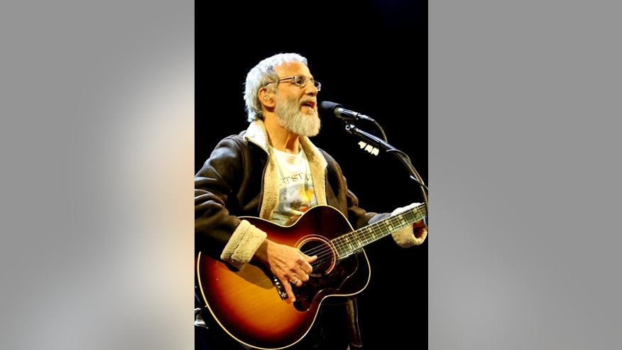 Singer Cat Stevens, also known as Yusuf Islam, sings during his concert in the Lebanese capital Beirut, on February 18, 2012. Sharon Stone and Stevens will take part in a musical in September honouring an environmental group founded by former Soviet leader Mikhail Gorbachev, organisers said Wednesday.