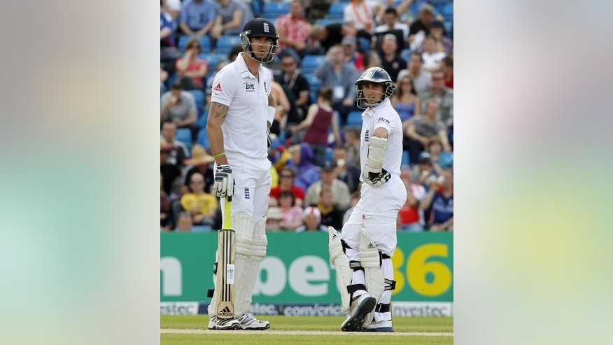 James Taylor (right) and Kevin Pietersen chat between overs against South Africa at Headingley last August. England's selectors have ear-marked Taylor as the man to step up against Auatralia in case Pietersen doesn't recover and on Wednesday it was announced the 23-year-old will temporarily switch counties and play for Sussex against Australia in a tour match this week.