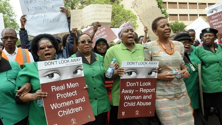 Members and supporters of the African National Congress (ANC) Women's League march in December last year to the Britain High Commission in Pretoria to demand Shrien Dewani be extradited back to South Africa and stand trial. A London court will on Wednesday rule whether Dewani, who is accused of orchestrating his bride's murder on their South African honeymoon, is mentally fit to face extradition.