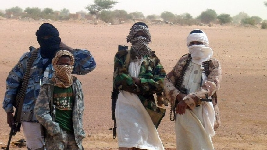 Fighters of the Islamic group of Ansar Dine, pictured in Kidal on August 7, 2012. Fighters of the Islamic group of Ansar Dine, pictured in Kidal on August 7, 2012.