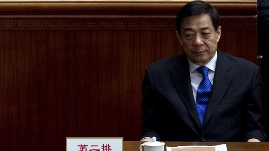 In this March 13, 2012 photo, then Chongqing Communist Party Secretary Bo Xilai attends the closing session of the Chinese People's Political Consultative Conference held at Beijing's Great Hall of the People (AP Photo)