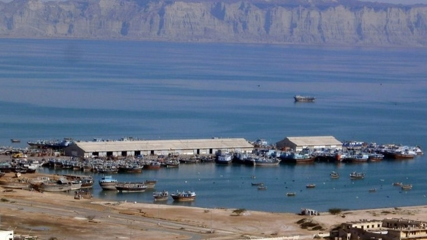 Boats moored at Gwadar port on the Arabian Sea. Gunmen attacked a coastguard checkpost in southwestern Pakistan on Saturday, killing seven officials and wounding seven others, officials said.