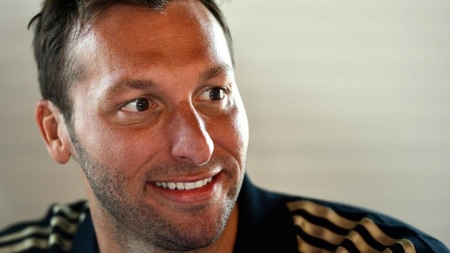 Ian Thorpe, pictured during a press conference near the Olympic Stadium in London, on July 26, 2012. Australia's five-time Olympic gold medallist may have to abandon his dream of swimming at the 2016 Rio Olympics following a shoulder injury, according to a report.