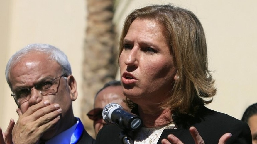 Saeb Erakat listens to Tzipi Livni at a news conference in Sharm el-Shiekh in November 2008. Israeli and Palestinian negotiators are to meet in Washington on July 30 for a round of talks after a three-year break in peace negotiations, a Palestinian official said on Saturday.