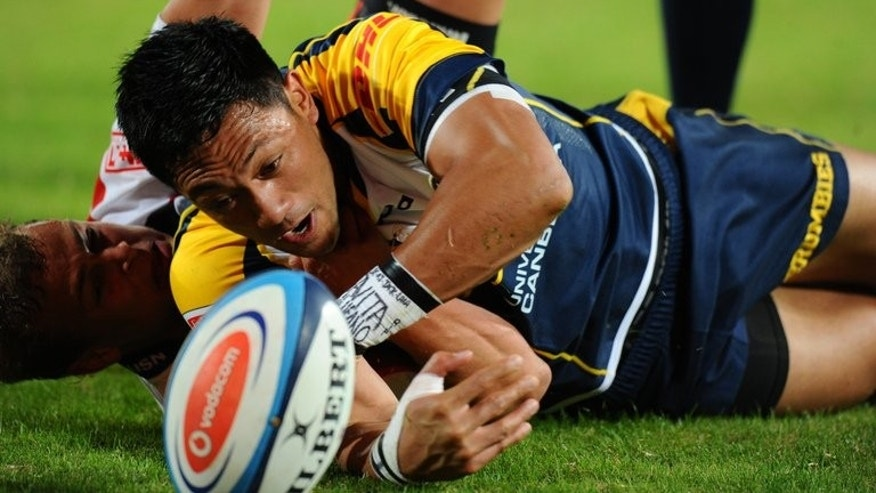 ACT Brumbies' fly-half Christian Lealiifano, pictured during a Super 15 rugby union match, in Johannesburg, on April 27, 2012. The Waikato Chiefs will defend their league title against Brumbies in New Zealand after tense semi-final victories this weekend. The Brumbies will play in their sixth Super Rugby final after snatching a dramatic 26-23 victory over the Northern Bulls, in Pretoria.