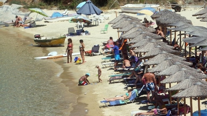 Sikia beach in Chalkidiki Peninsula, 650km north of Athens. The Association of Greek tourism enterprises (SETE) this month announced a 10 percent rise in foreign arrivals at airports for the first half of 2013.