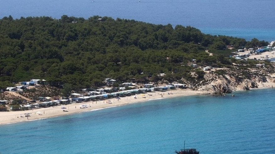 Sarti beach in Chalkidiki Peninsula, 650km north of Athens. Arrivals are on the up again after dismal 2012 figures but domestic tourism is at a standstill and Greece's second-tier destinations are more deserted than ever.