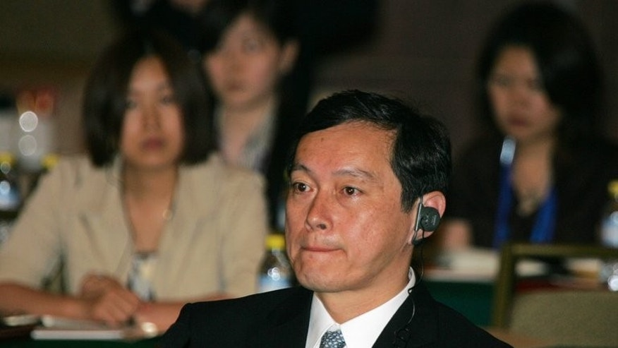 Japan's vice foreign minister, Akitaka Saiki, pictured in Beijing, on July 10, 2008. Saiki on Monday set off for a two-day visit to China, Tokyo said, the latest chapter in a bid by Prime Minister Shinzo Abe to hold high-level talks with Beijing.