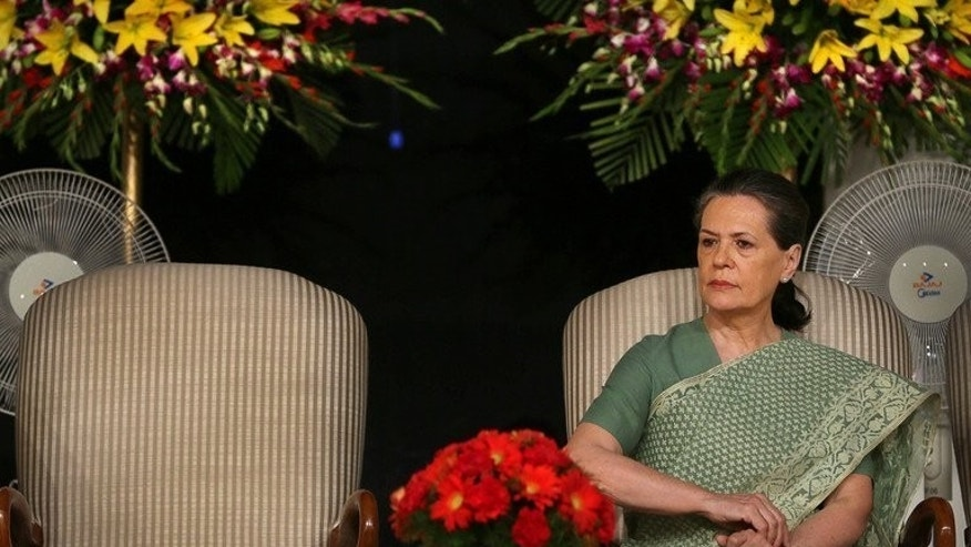 India's ruling United Progressive Alliance (UPA) chairperson Sonia Gandhi pictured in New Delhi on May 22, 2013. India's scandal-rocked ruling Congress party and its current allies would fail to win enough seats to form a government if elections were held today, according to a poll on Tuesday. But the party controlled by Sonia Gandhi has been hit by a series of corruption scandals.