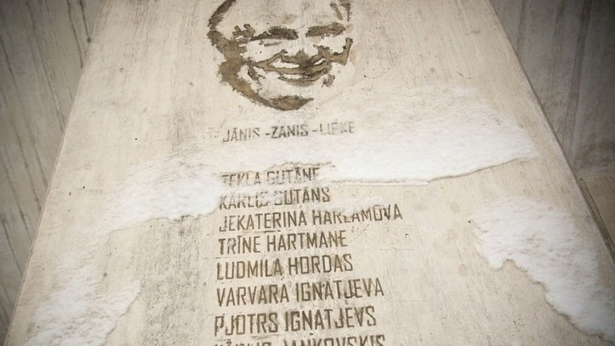 A picture taken on December 13, 2010 in Riga shows a monument dedicated to Zanis Lipke. Israeli President Shimon Peres on Tuesday opened a memorial museum in Riga dedicated to Lipke, a Latvian Holocaust hero credited with saving dozens of Jews from Nazi death camps.