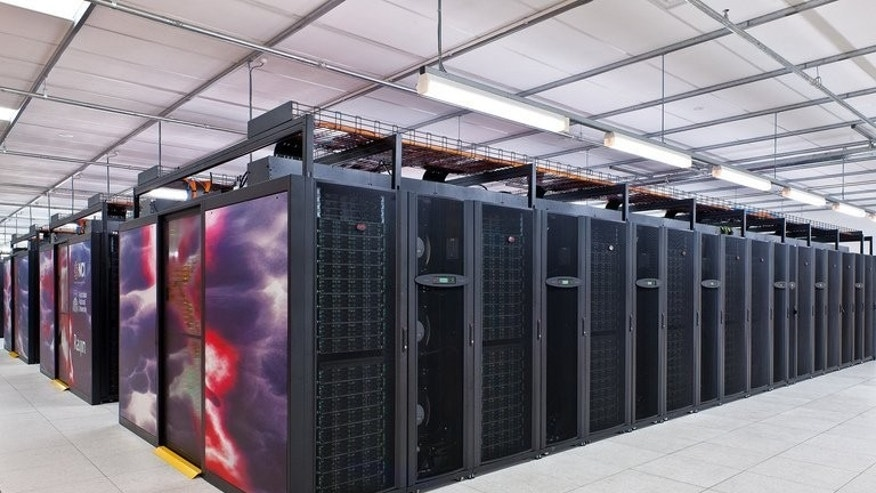 This recent undated handout picture released on July 31, 2013 by the Australian National University in Canberra shows a supercomputer, which has been named Raijin after the Japanese god of thunder, lightning and storms. Australia's most powerful computer was hailed as a boost for climate scientists who need to crunch vast amounts of data to make forecasts and pinpoint extreme weather.