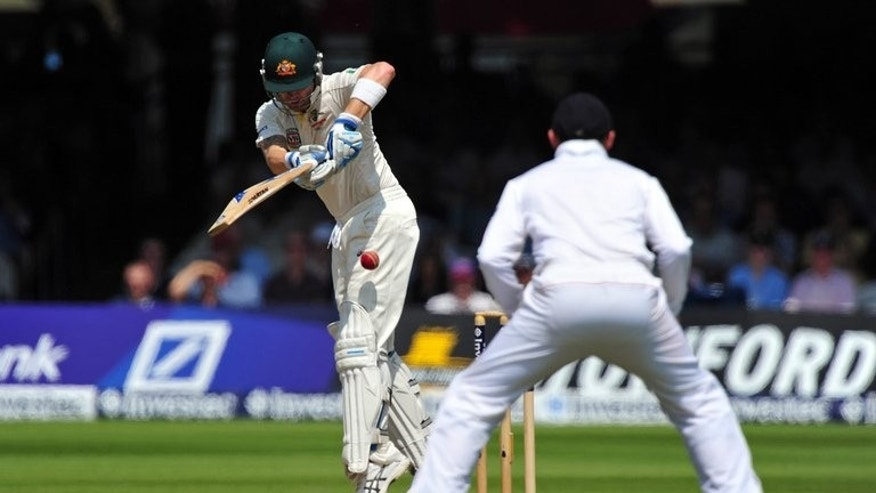 Michael Clarke bats against England at Lord's on July 21. Michael Clarke said on Wednesday that Australia's current losing streak will not curtail his Test career, as the tourists look to bounce back from two straight defeats in the third Ashes Test.