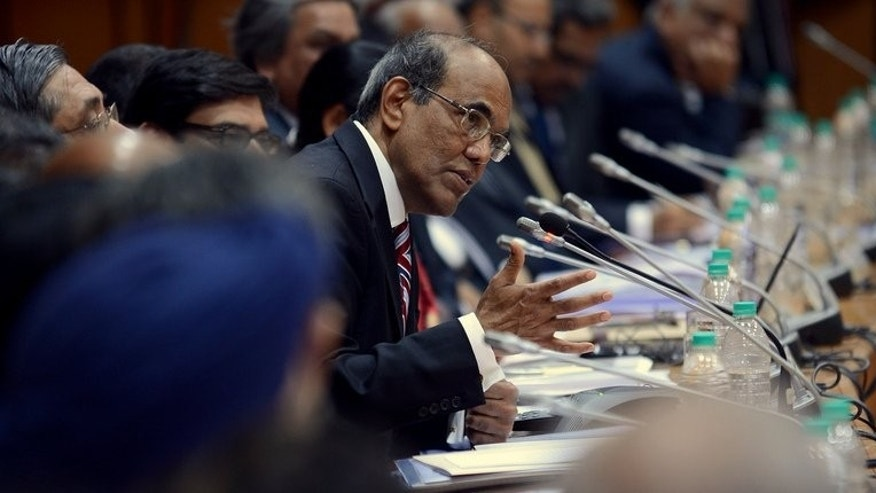 "Reserve Bank of India governor Duvvuri Subbarao speaks to the media in Mumbai on January 27, 2013. Subbarao has decided to ""move on"" and a hunt for his successor is underway, the country's finance minister was quoted saying Wednesday."