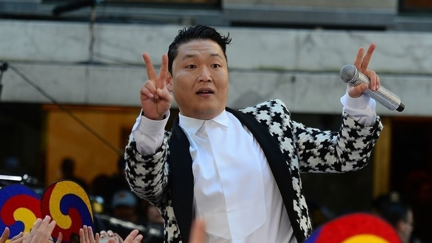 "South Korean singer Psy performs on the ""Today Show"" at Rockefeller Plaza in New York, on May 3, 2013. Psy plans to release a new album in September and says he has already recorded three songs for the project."