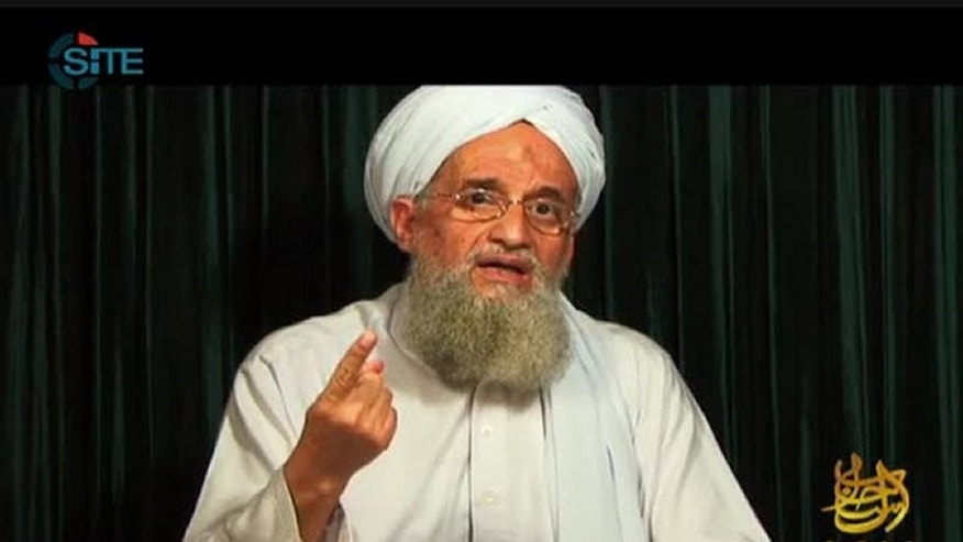 This still image from video obtained on October 26, 2012 courtesy of the Site Intelligence Group shows Al-Qaeda leader Ayman al-Zawahiri speaking from an undisclosed location. Zawahiri says Lebanese Shiite militant group Hezbollah had been exposed as a tool of Iranian expansionism, in an audio message posted online on Wednesday.