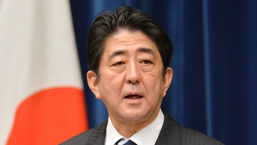 Japanese Prime Minister Shinzo Abe speaks during a press conference in Tokyo, on January 11, 2013. Abe will not visit a controversial shrine to war dead on the anniversary of his country's surrender in World War II, AFP sources and a report said Thursday.