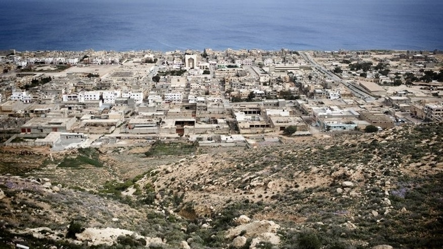 The eastern Libyan town of Derna on March 15, 2011. A Libyan army officer was shot dead in Derna, while another was seriously wounded in a second attack in Benghazi, a security official said Thursday.
