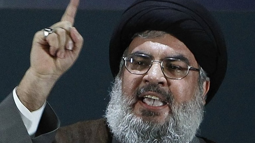 Hezbollah's chief Hassan Nasrallah made a rare public appearance August 2, 2013, at a Beirut rally held to mark Quds (Jerusalem) Day in support of the Palestinian people.