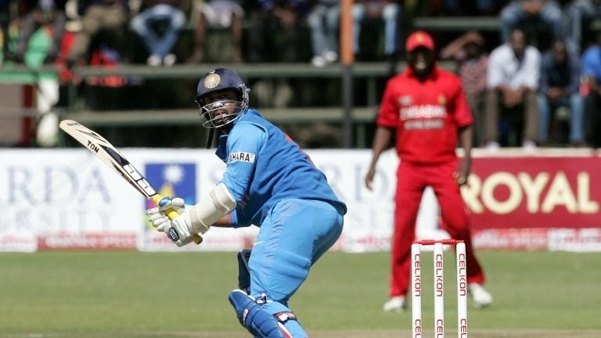 India's Dinesh Karthik bats during the 2nd match of the five-match ODI series against Zimbabwe at Harare Sports Club on July 26, 2013. India will seek their first whitewash in the series away from home when they take on Zimbabwe in the fifth ODI on Saturday.