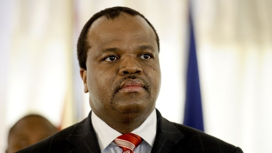 Africa's last absolute monarch, Swaziland's King Mswati III, pictured on August 17, 2012, on Friday dissolved parliament in the run-up to new legislative polls in September which critics have branded a sham.